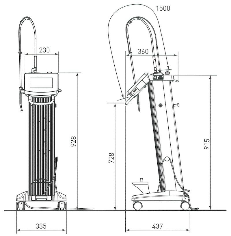 Bel Laser S(ベルレーザー・エス)・寸法図