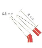 バイポーラフォーセプス NON-STICK red アングル(マーチン) 先端0.6mm、8mm