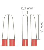 バイポーラフォーセプス NON-STICK red バヨネット(マーチン) 先端2.0mm、8mm