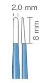 バイポーラフォーセプス ストレート絶縁型(マーチン) 先端2.0mm、8mm